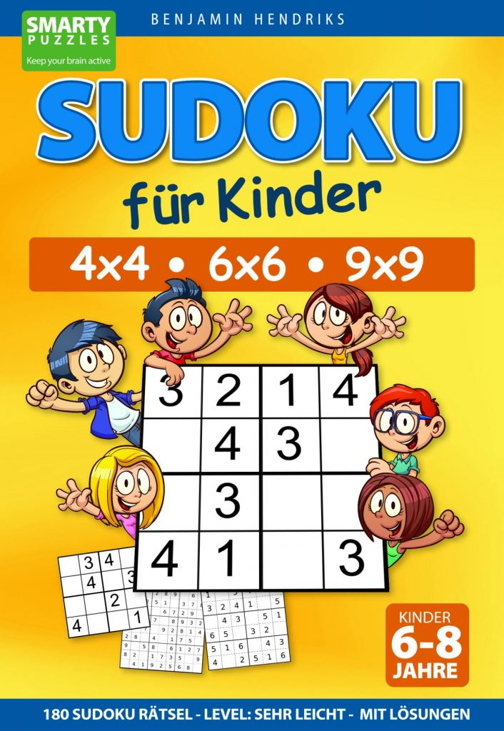 sudoku für kinder 4×4  6×6  9×9  180 sudoku rätsel